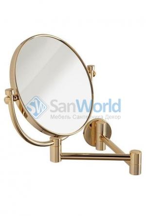 Nancy Gold Nicol зеркало косметическое золотое настенное двухстороннее с увеличением 1х1 и 1х3